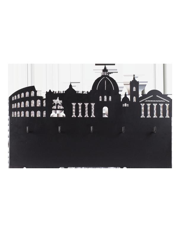 Portatazze Skyline Roma Nero